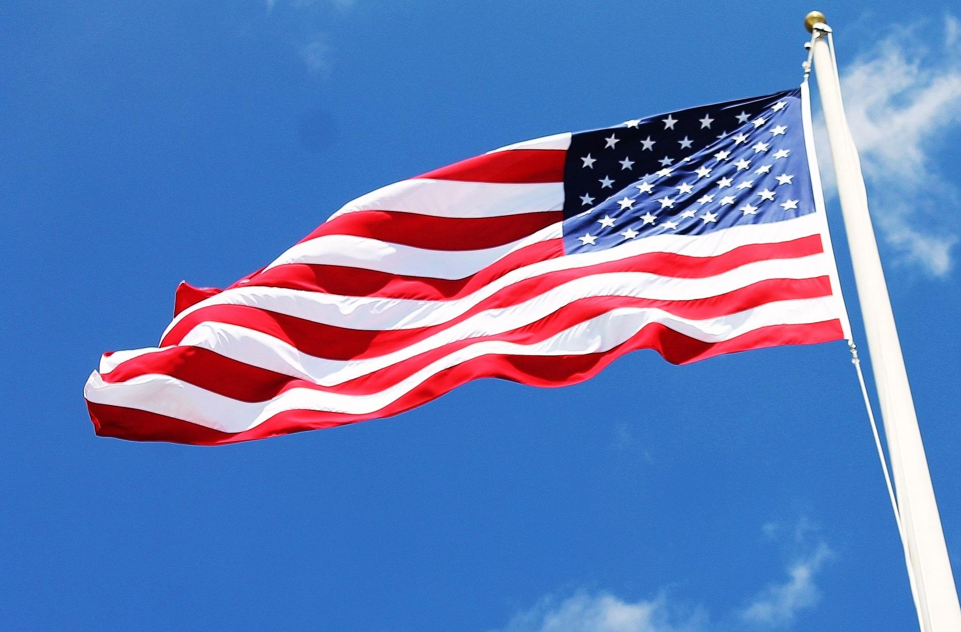 アメリカ横断_国旗
