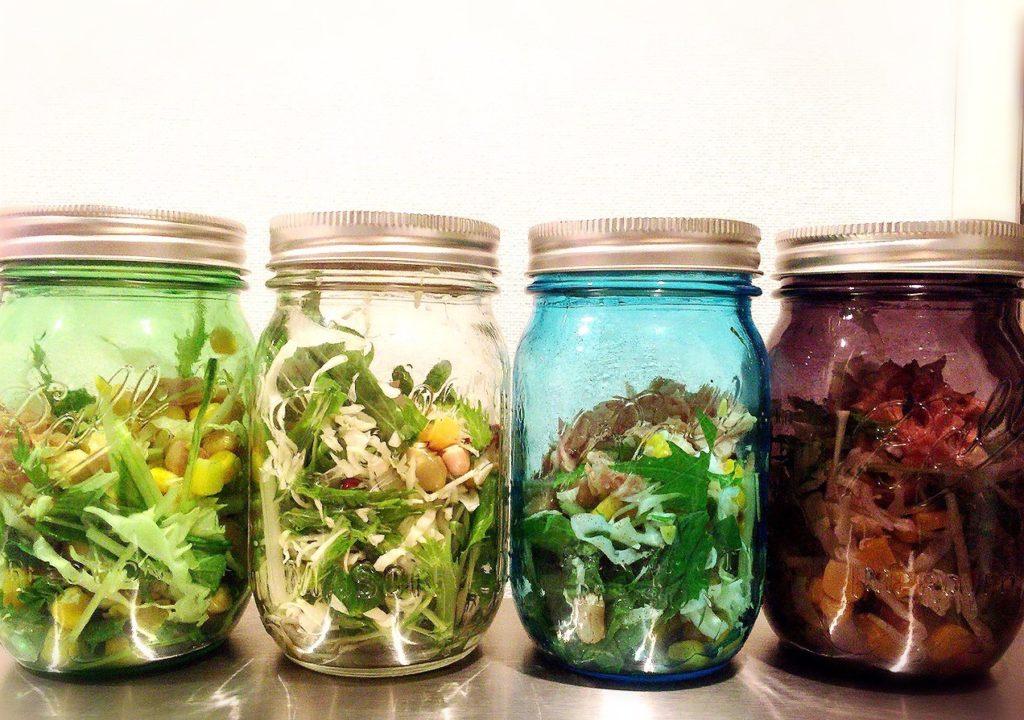 インスタ映え大流行の保存容器メイソンジャー_野菜