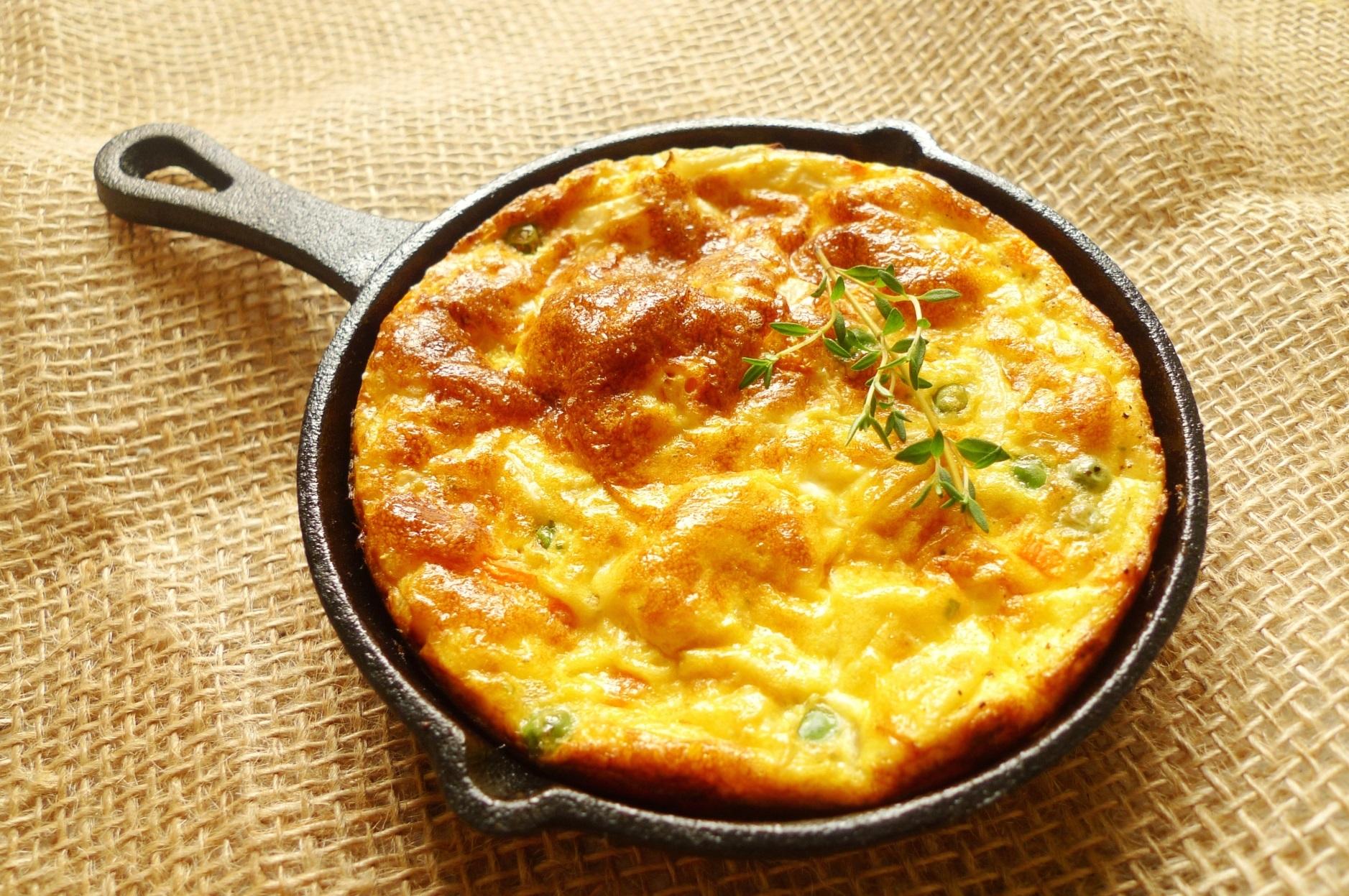 スペインの朝食_スパニッシュオムレツ_綺麗にできた