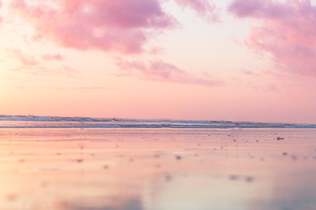 バハマ_ピンクサンドビーチ_pink_sand_beach_夕方の景色