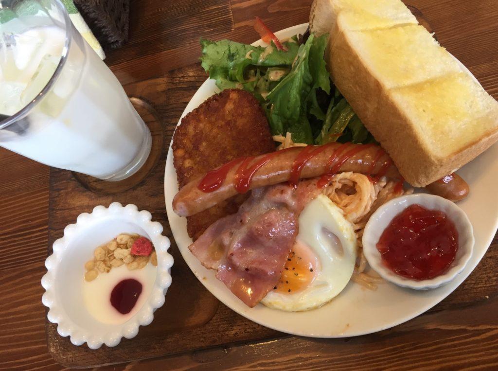 ビッグブレックファースト_ニュージーランドの朝食_ベーコンとウィンナー