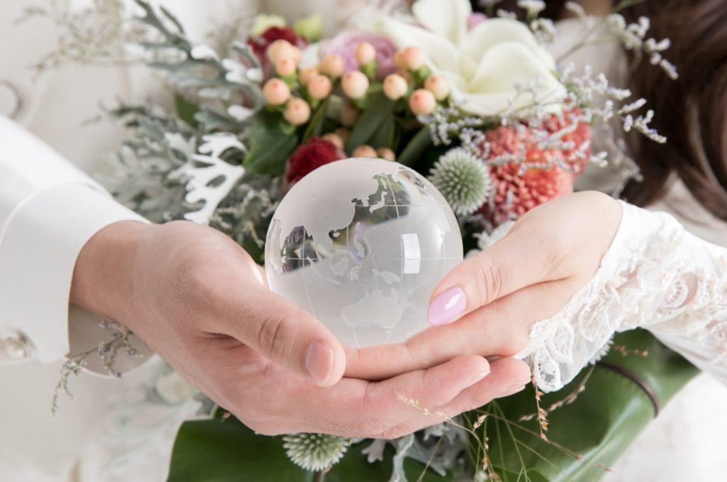 日本政府公認の国際結婚第一号_新郎と新婦