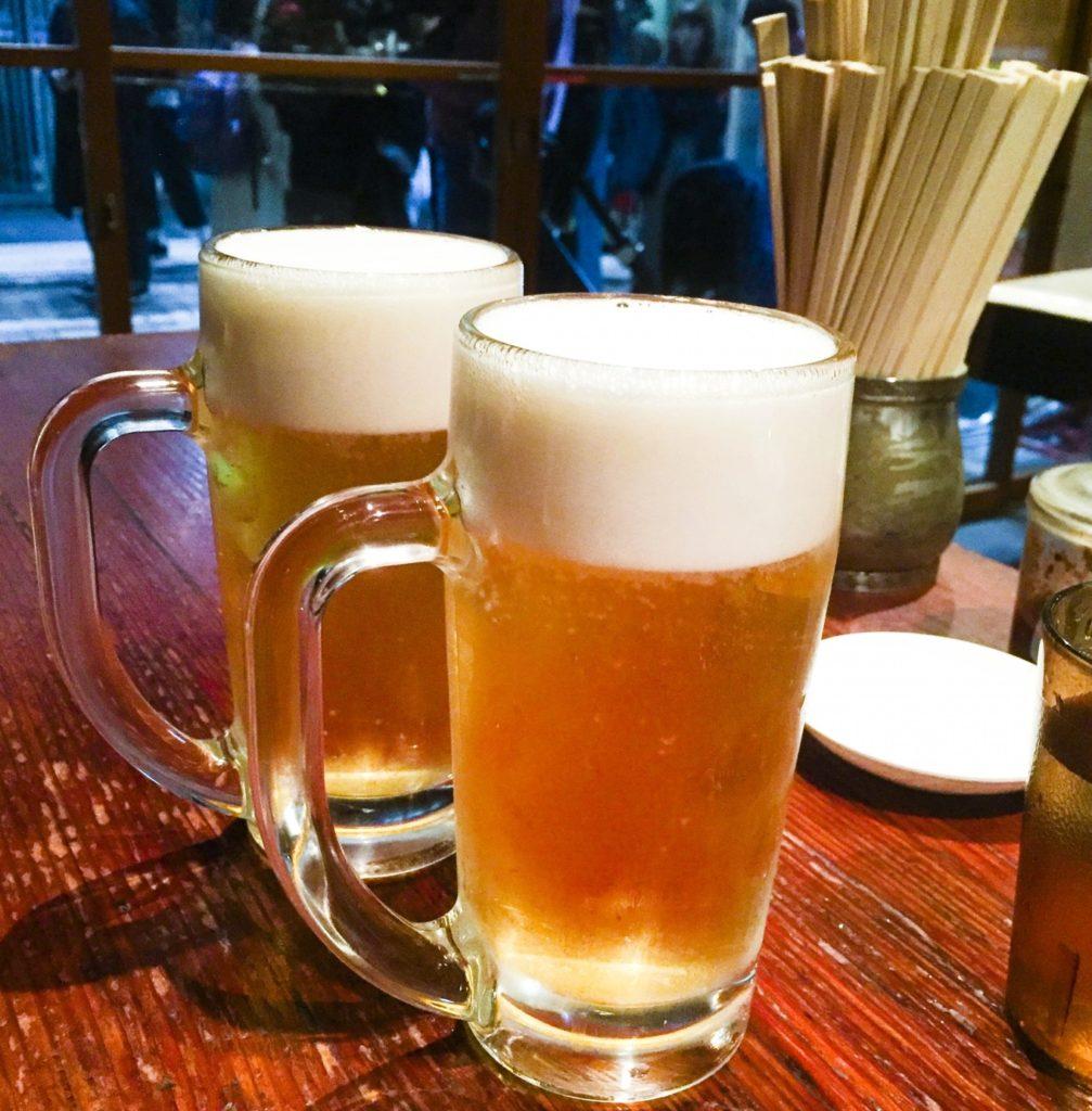 飲んだあとのラーメンは美味い_ジョッキ生ビール